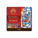 Coloured pencils Metal box Polycolor 24 p.