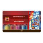 Coloured pencils Metal box Polycolor 72 p.