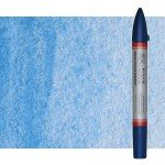 Watercolor Marker light blue Winsor & Newton doble brush point