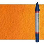 Watercolor Marker cadmium orange hue Winsor & Newton doble brush point