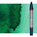 Watercolor Marker ftalo green yellowish Winsor & Newton doble brush point