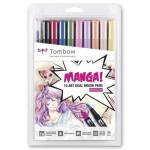 Tombow Dual Brush Marker, Set of 10 Manga Shojo Colours