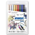 Tombow Dual Brush Marker, Set of 10 Manga Shonen Colours