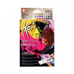Pocket Box 24 watercolor tablets Sakura (metal and fluo)