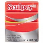Sculpey III Strong Red, 56 gr.