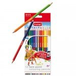 Set 12 twin point colouring pencils bruynzeel