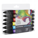 Set 12 watercolor Promarkers Winsor & Newton, basic tones