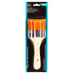 3 Flat Brush Set Gold Taklon, Royal & Langnickel
