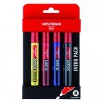 Acrylic Amsterdam marker, set Intro Pack (4 colours)