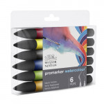 Set 6 watercolor Promarkers Winsor & Newton, basic tones