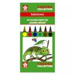 Set 6 Koi Coloring Sakura BASICS brush tipped markers