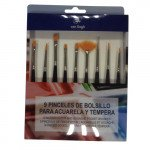 15 watercolour and gouache short brushes set, Van Gogh