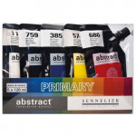 Set Abstract Primary. 5 colours. 120 ml. Sennelier