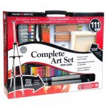 Complet art set with easel Daler Rowney, 111 pieces