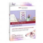 Watercolor Tombow Canvas Set, Elegant Butterflies