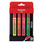 Acrylic Amsterdam marker, set Reflex Pack (4 colours)