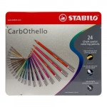 STABILO Carbothello metal box 24 colours chalk-pastel pencils assorted