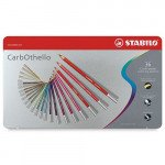 STABILO Carbothello metal box 36 colours chalk-pastel pencils assorted