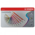 STABILO Carbothello metal box 48 colours chalk-pastel pencils assorted
