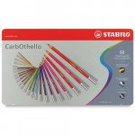 STABILO Carbothello metal box 60 colours chalk-pastel pencils assorted