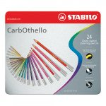 STABILO Aquacolor metal box 24 watercolor pencils assorted