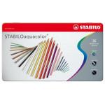 STABILO Aquacolor metal box 36 watercolor pencils assorted