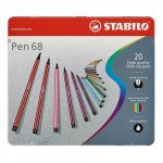STABILO Pen 68 metal box 20 high quality fibre tip pen