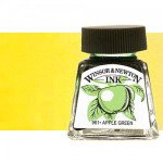 Drawing Ink Bright Yellow, Winsor & Newton, 14 ml.