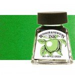 Drawing Ink  Bright Green, Winsor & Newton, 14 ml.