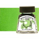 Drawing Ink, Apple Green, Winsor & Newton, 14 ml.