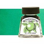 Drawing Ink Emerald Green, Winsor & Newton, 14 ml.
