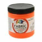 Fluor. Orange Screen Printing Ink 236 ml. Speedball