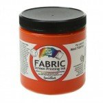 Orange Screen Printing Ink 236 ml. Speedball