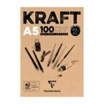 Bloc de Papel Kraft A5, 90 gr. 100 h. Color Marrón Clairefontaine
