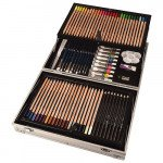Complet art set Daler Rowney, 122 pieces