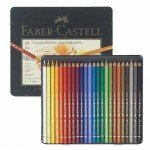 Colour Pencils metal box POLYCHROMO, Faber Castell (24 colours)